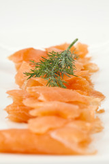 slices of smoked salmon
