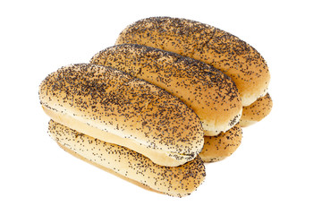 pile of bread with black sesame seeds