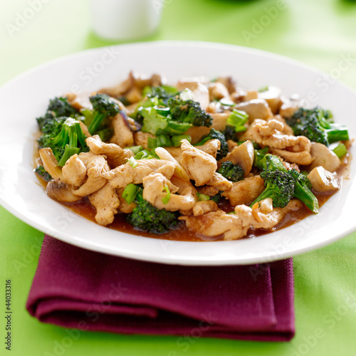 chinese food - chicken and broccoli stir fry