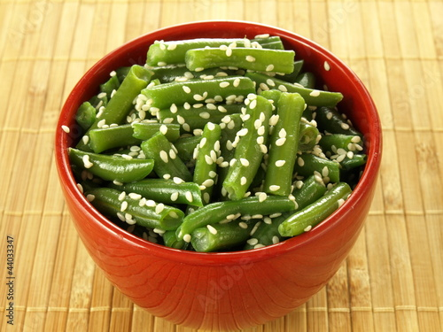 French beans with sesame