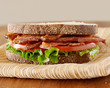 bacon lettuce and tomato sandwich.