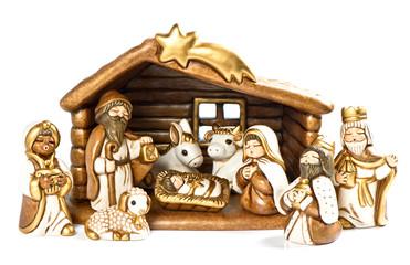 christmas crib. nativity scene. holy family