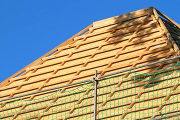 Dach mit Holzfaserdämmplatten