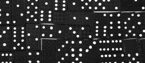 Black dominoes pieces