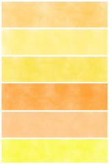 Set of  orange watercolor abstract hand painted backgrounds