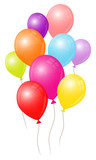 Fototapety Birthday Card Colorful Balloons
