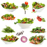 Fototapety Collection of Isolated Salads