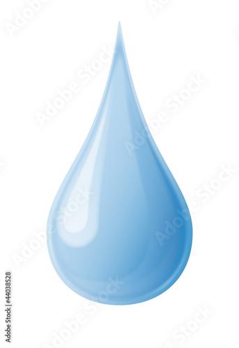 Schlanker Wassertropfen