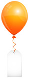 Orange Balloon & Label