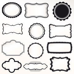 Vector frame set vintage retro