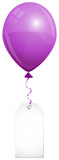 Purple Balloon & Label