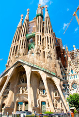 Sagrada Família. View of the Passion façade.