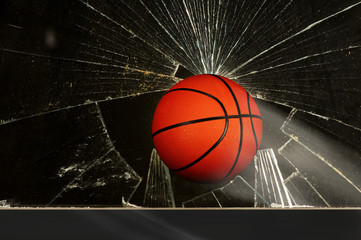 Basketball  and Broken Window.