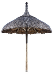 parasol de plage en paille