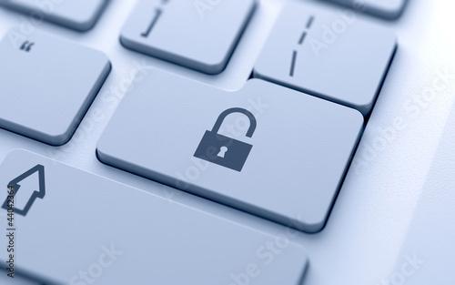 Lock concept button