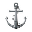 Anchor on white background