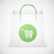 shopping bag vector icon isolated