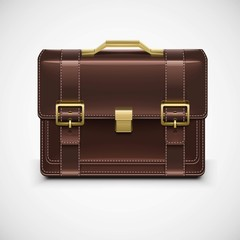 isolated single briefcase vector
