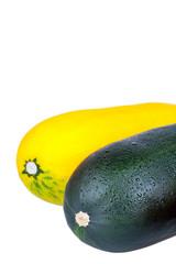 Fresh vegetable marrow isolated on white