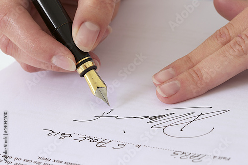 Signature d'un document