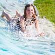 Leinwanddruck Bild - garden water slide