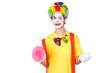 Clown mit Blume