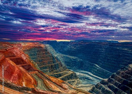 Fotobehang Luchtfoto Super Pit Kalgoorlie Western Australia