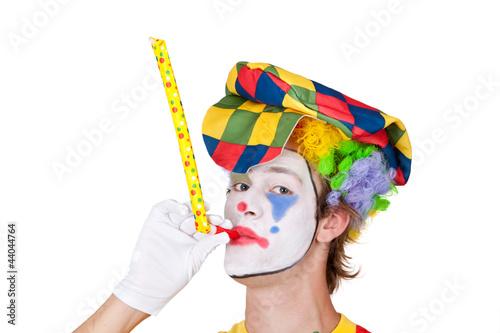 Clown mit Pfeife