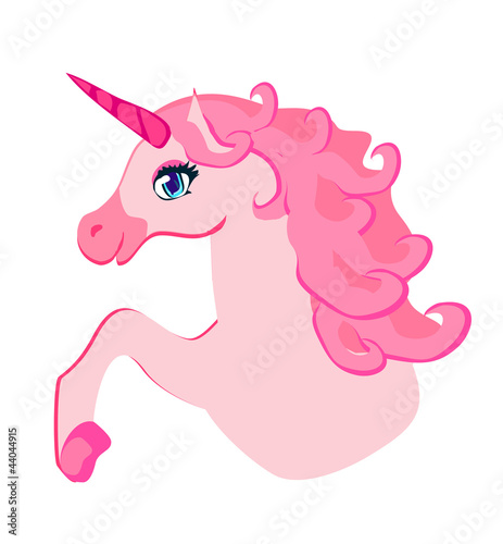 Poster Pony Vector Illustration of beautiful pink Unicorn.