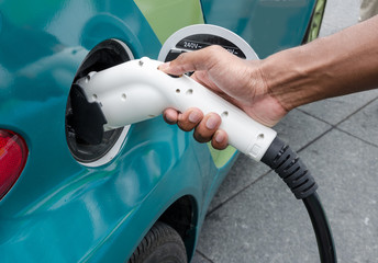 electric car with hand held charger