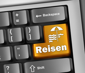 "Keyboard Illustration ""Reisen"""