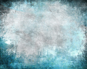 Grunge frame, blue color scratched background