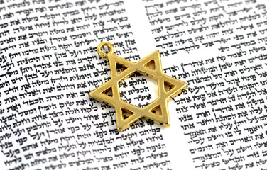 Star of David on Hebrew Text