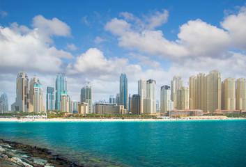 Dubai city, panoramic view.