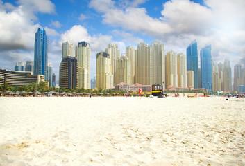 Dubai Town scape in Dubai, United Arab Emirates