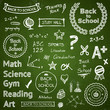 Back-to-school hand-drawn elements