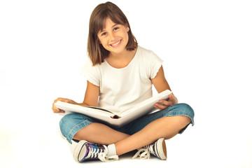 Mädchen liest Buch 14.8.12