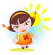 girl with sun