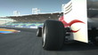 driving behind F1 race car - high quality 3d animation