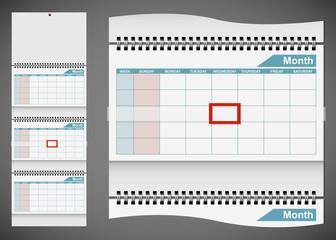 Blank standard wall calendar template