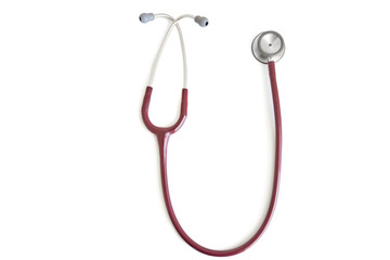A stethoscope isolated over white background