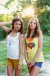 Two beautiful caucasian girls
