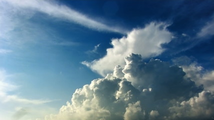 Cumulus clouds time lapse hdr