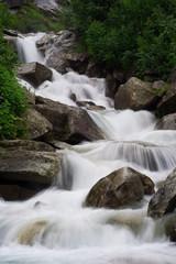 small stream in the alps