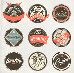 vintage design retro labels