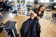 Woman Getting a Hair Cut