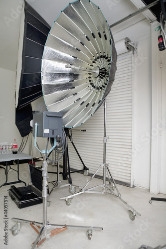Photographing equipments in studio