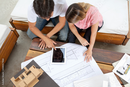 Couple With House Plans