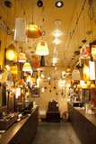 Lighting equipments on display in lights store