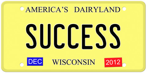 Success license plate